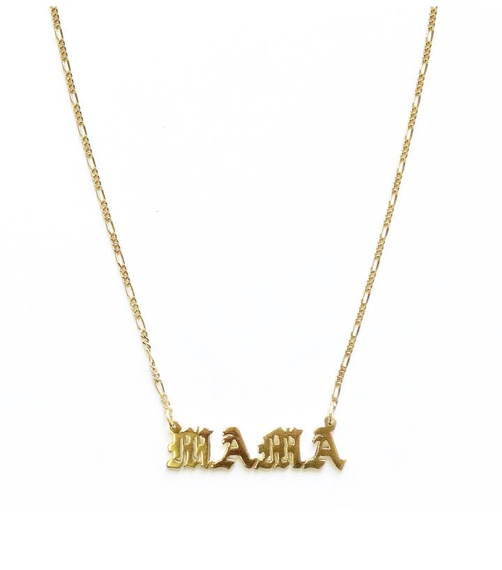 Mom Necklace Mama Necklace Old English Mama Necklace
