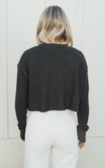 Vintage Black Cropped Thermal