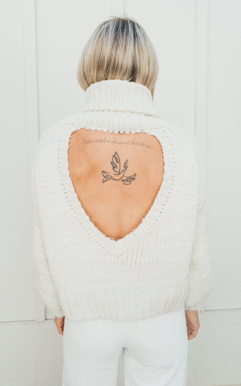Cream Amanda Cable Knit Sweater
