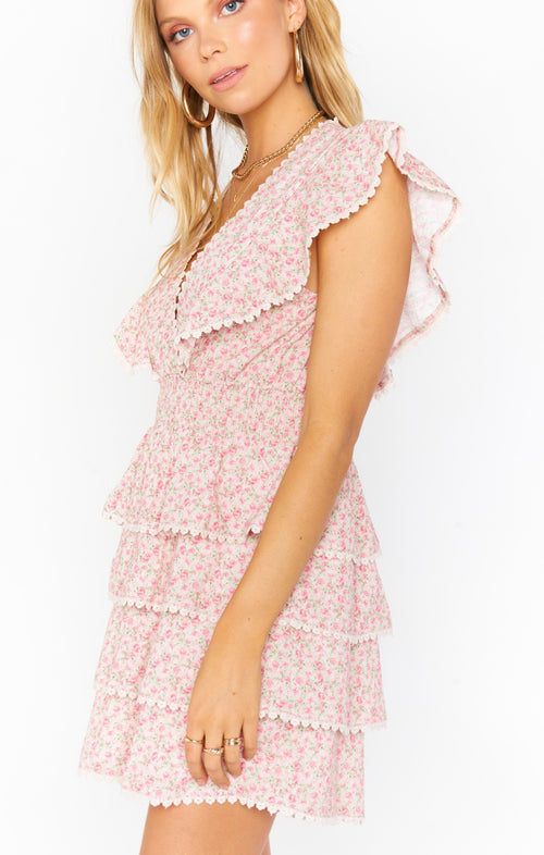 Sweet Ruffle Mini Dress