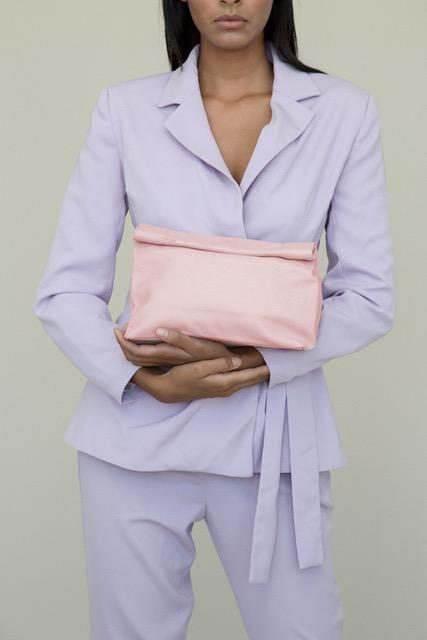 Lunch Clutch Pebble Pink
