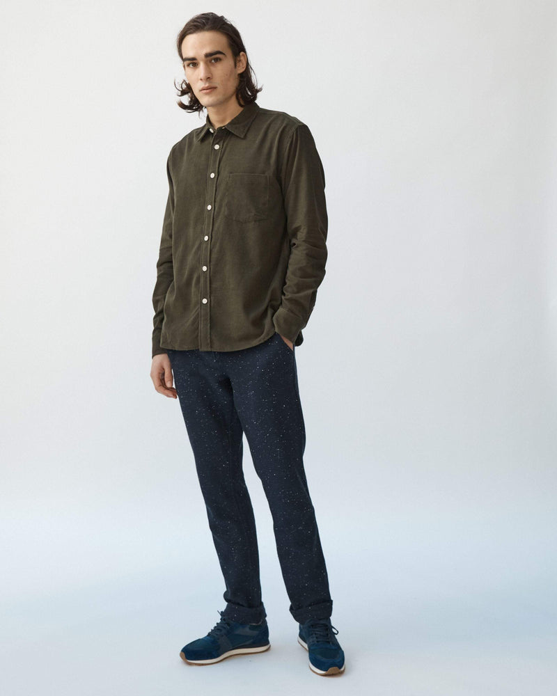 Olive Pincord Long Sleeve