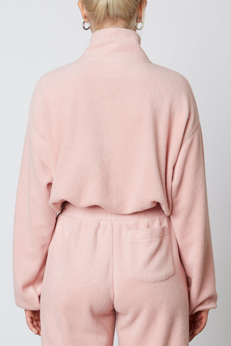Fleece Half Zip Blush