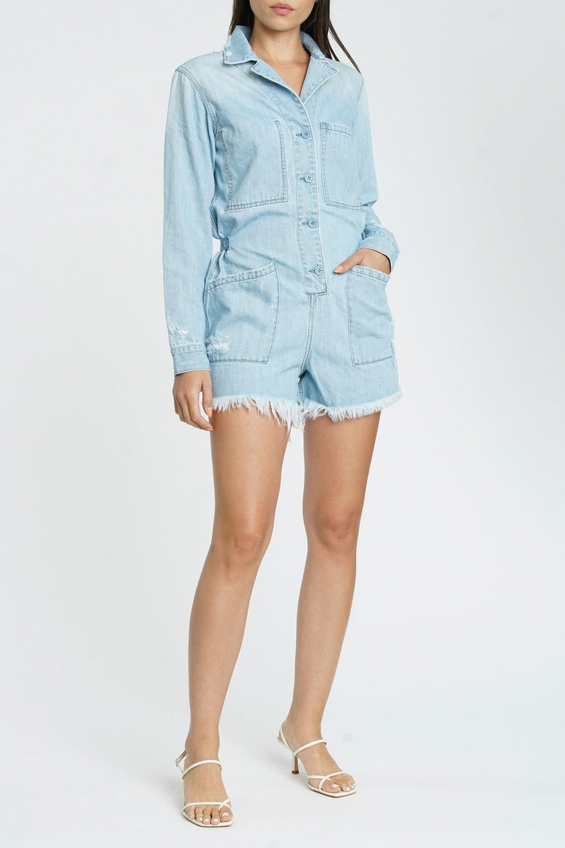 Freda Long Sleeve Romper Salton Sea