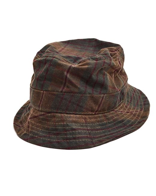 Bucket Hat Plaid - Whiskey & Leather