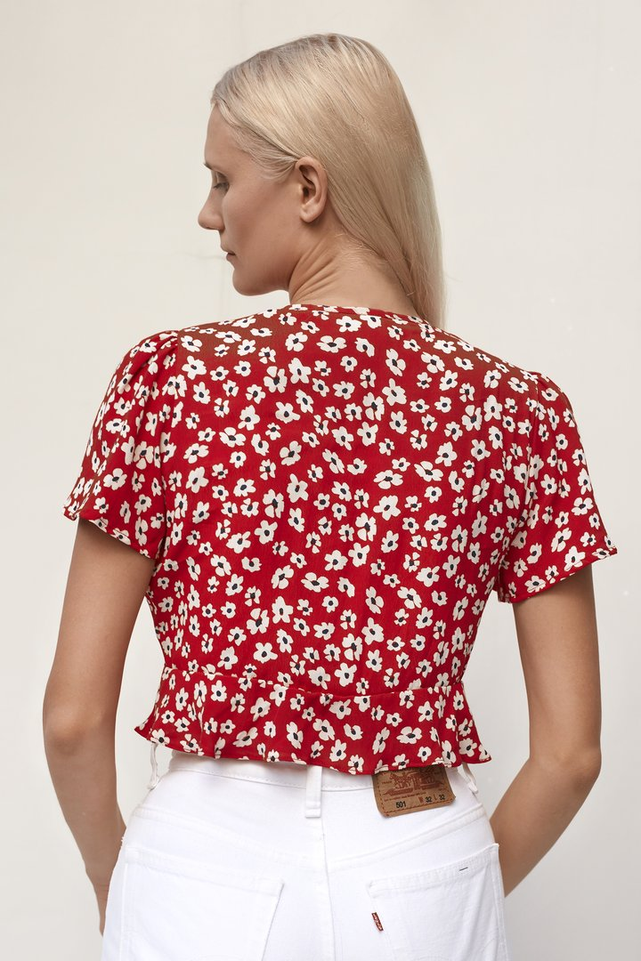 Paige Cosmos Floral Top