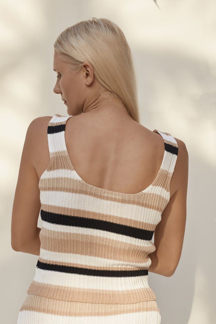 Dana Boxy Stripe Top