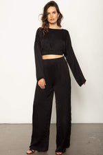 Sunset Wide Leg Pant Black