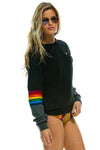 Black Rainbow Stitch Sweater