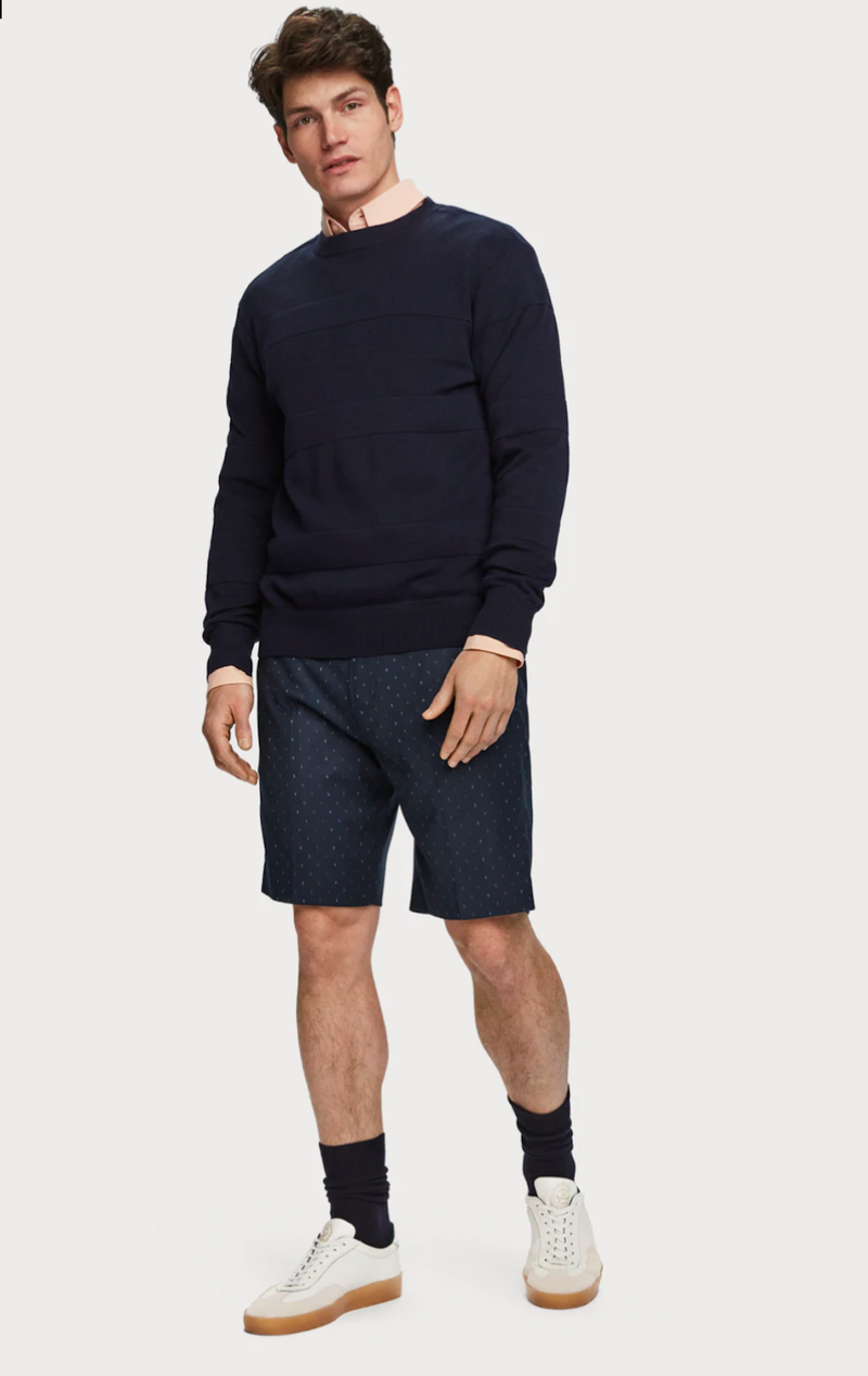 Classic Chino Shorts Navy Pattern