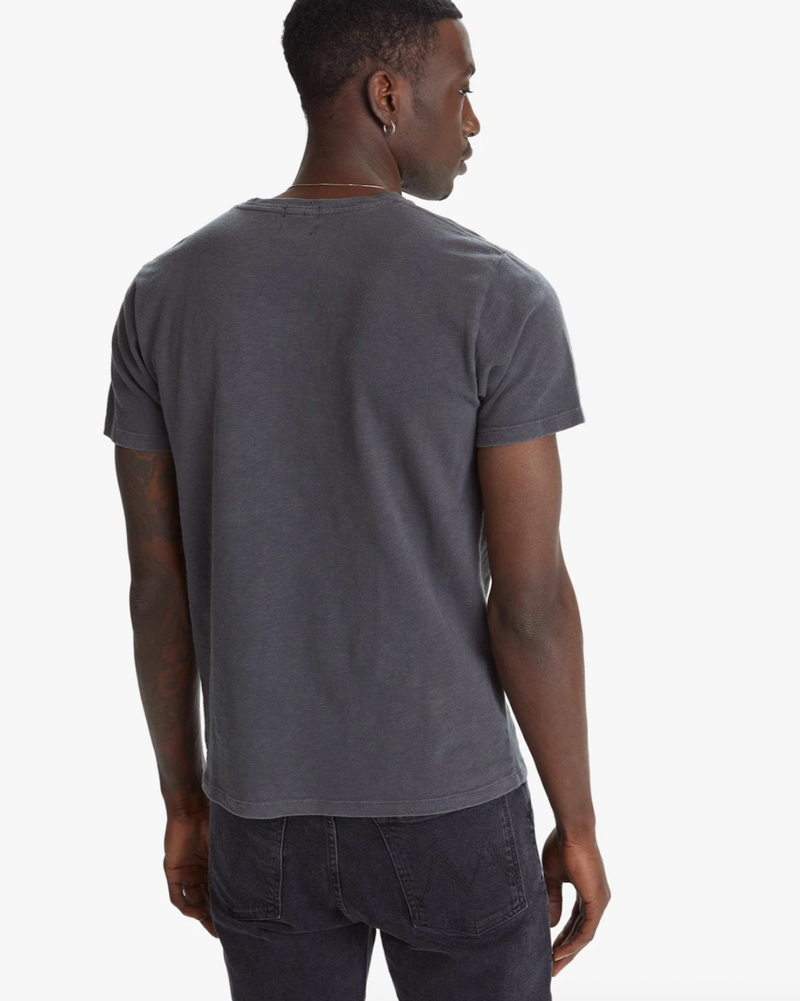 Mother Denim Graphic Tee in charcoal