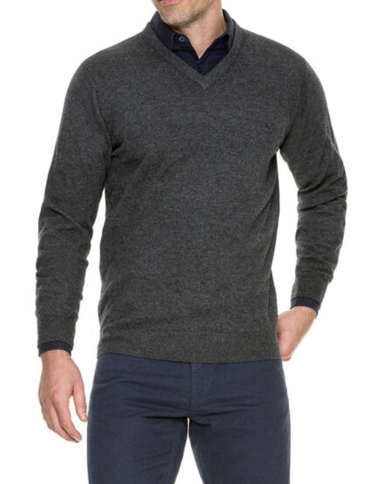 Rodd and Gunn Sweater in grey