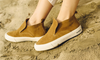 The Huntington Middie in Camel Suede by Seavees