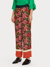 Wide Leg Color Block Trousers