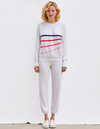 Cream Diagonal Stripes pullover