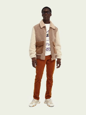 ColourBlock Sherpa Bomber