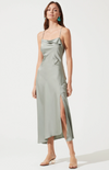Sage Cowl Slip Maxi Dress