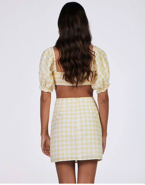 Ivy Top Yellow Gingham