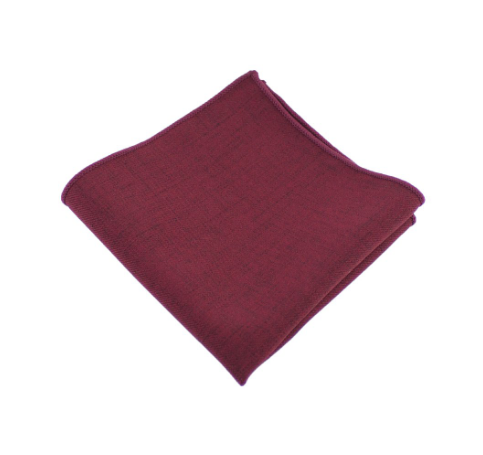 Burgundy Pocket Square - Whiskey & Leather