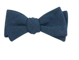 Blue Bow Tie - Whiskey & Leather