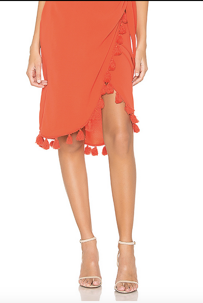 Anjolie Wrap Skirt W/Tassels Bellini - Whiskey & Leather
