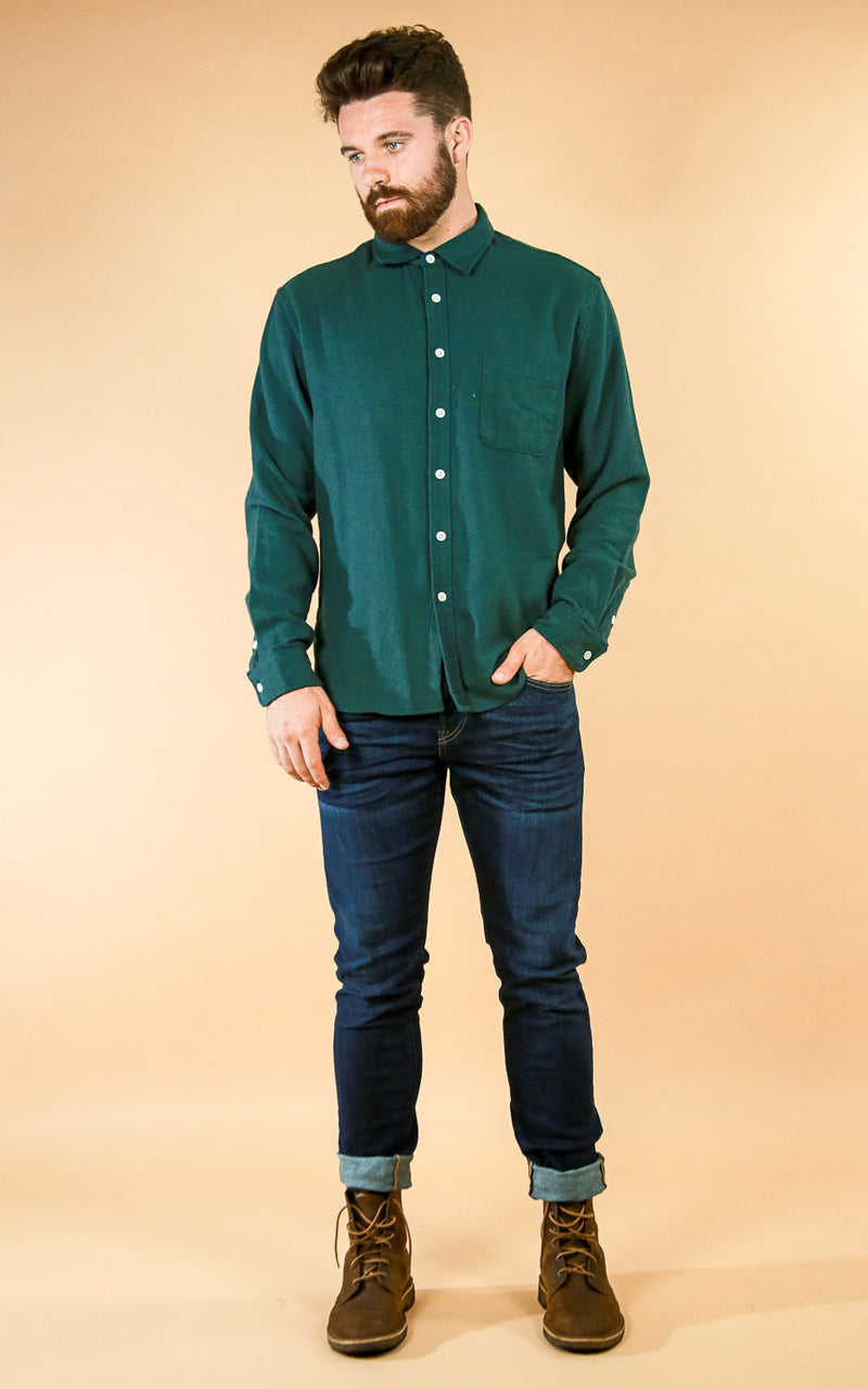 Hunter Flannel Green