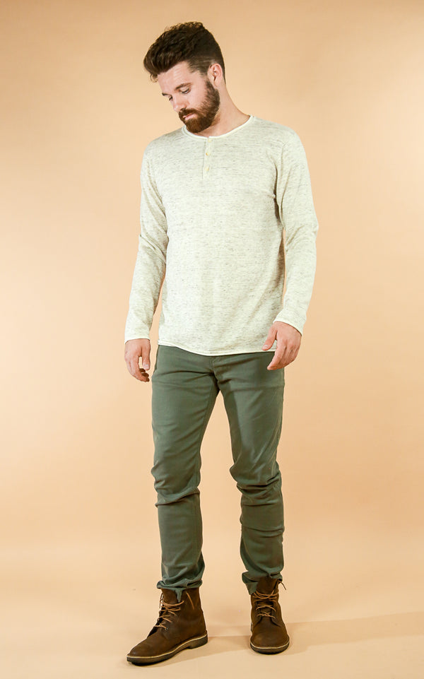 Cotton Cashmere Sweater - Whiskey & Leather