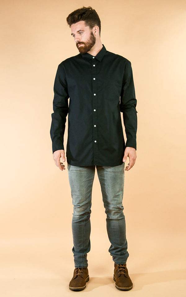 Black Poplin - Whiskey & Leather