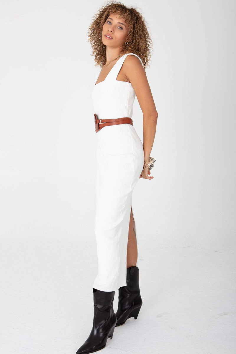The Square Neck Dress White