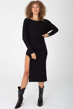 Did It Again Rib Dress Black