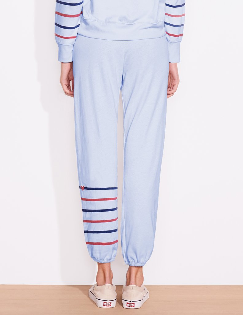 Mini Heart Stripes Sweatpants