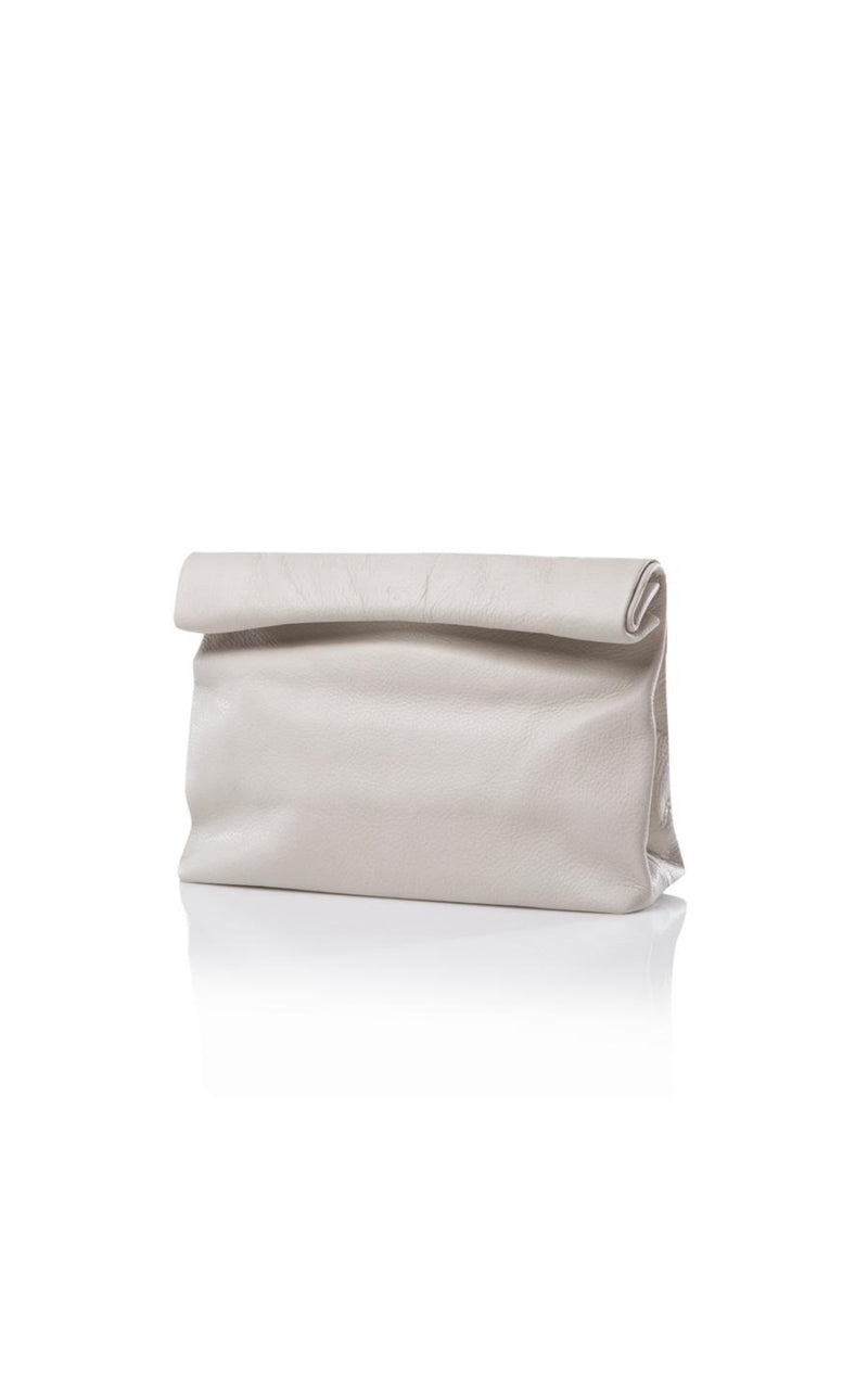 Lunch Off White Clutch Pebble