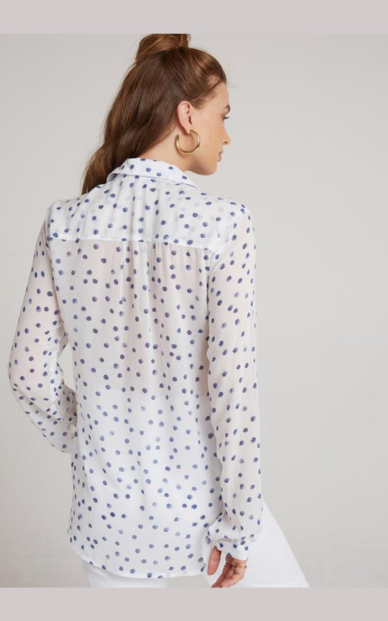 White Polka Dot Hipster Shirt