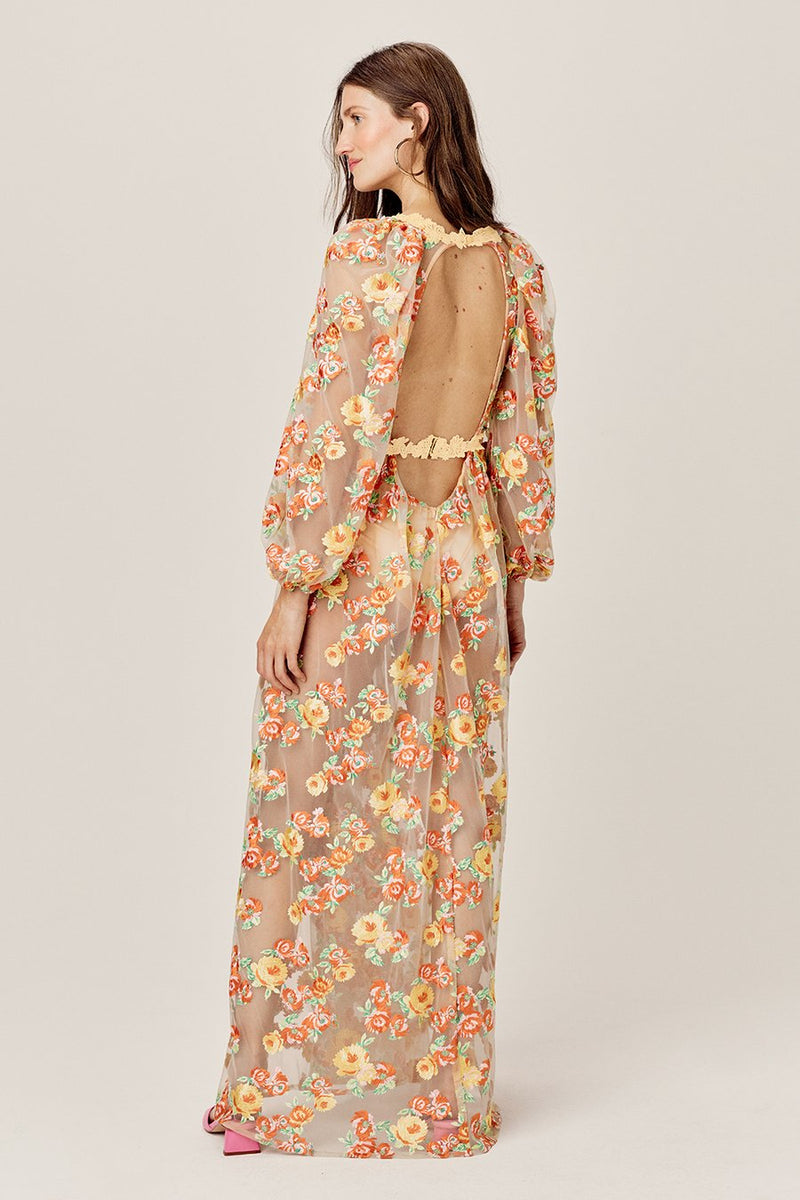 Winnie Embroidered Maxi Dress