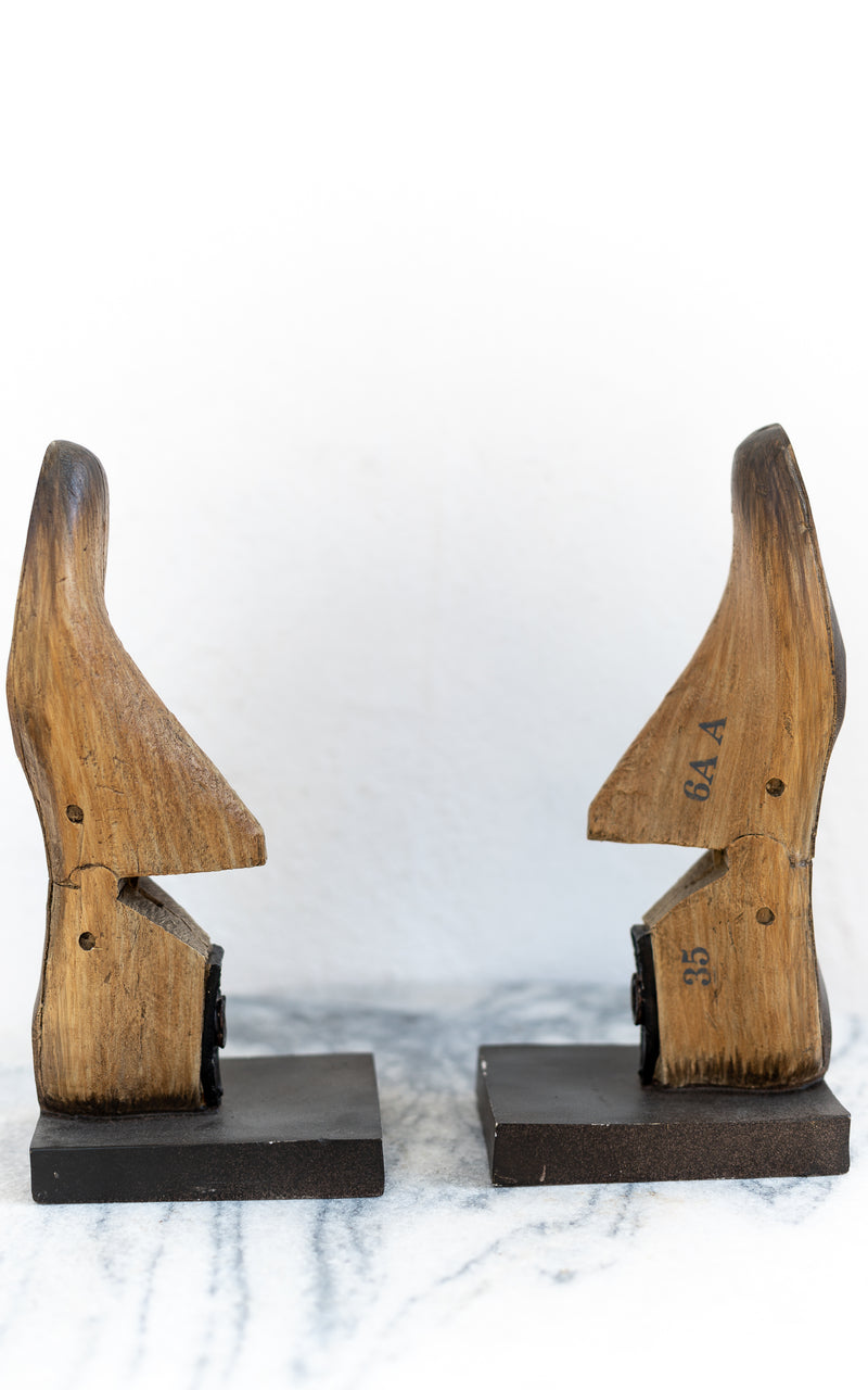 Shoe Bookends - Whiskey & Leather