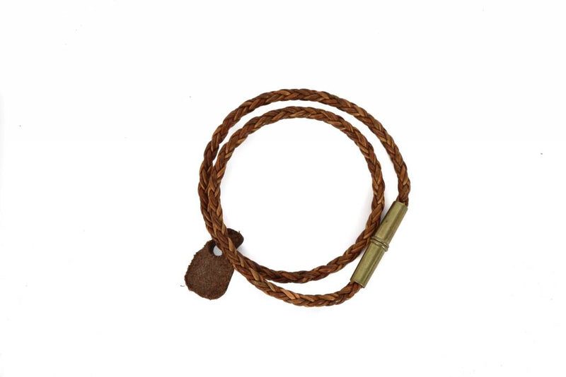 Braided Bracelet - Whiskey & Leather