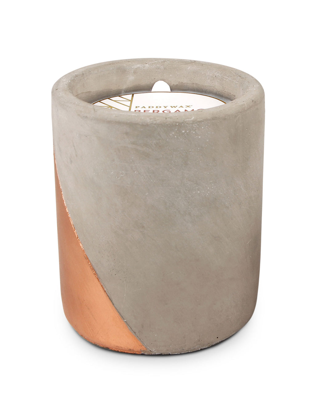 Bergamot & Mahogany Large Concrete Candle, 12 oz./340g - Whiskey & Leather