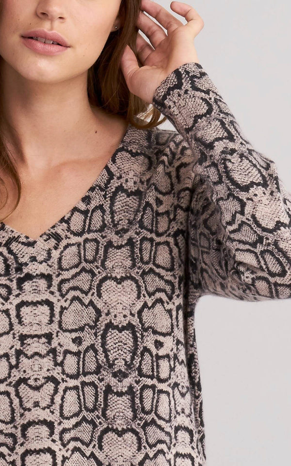 Snake Print Cashmere Sweater