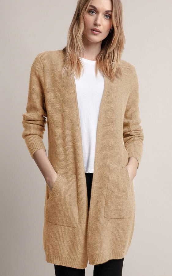 Cashmere Ribbed Duster