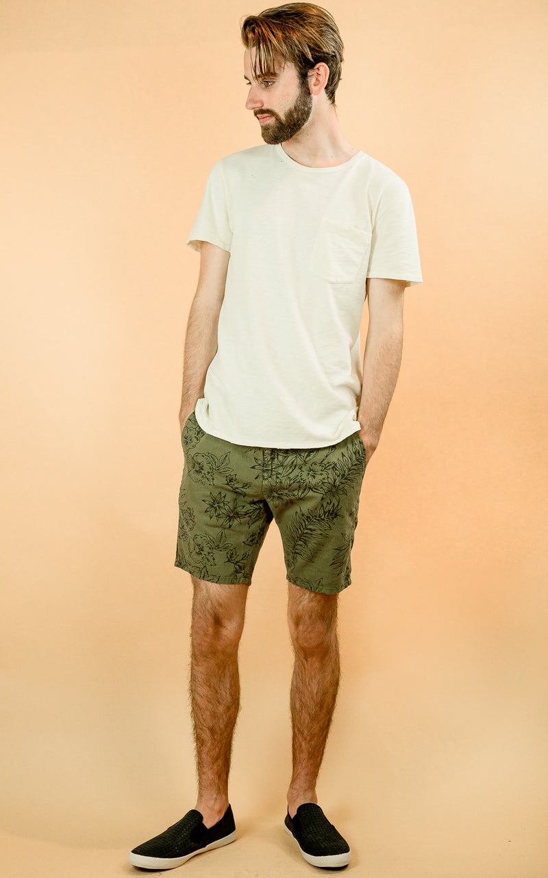 Scotch & Soda shorts in green with floral print