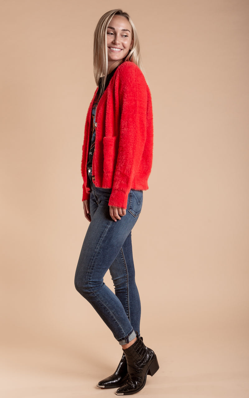 Red Aperrol Cardigan
