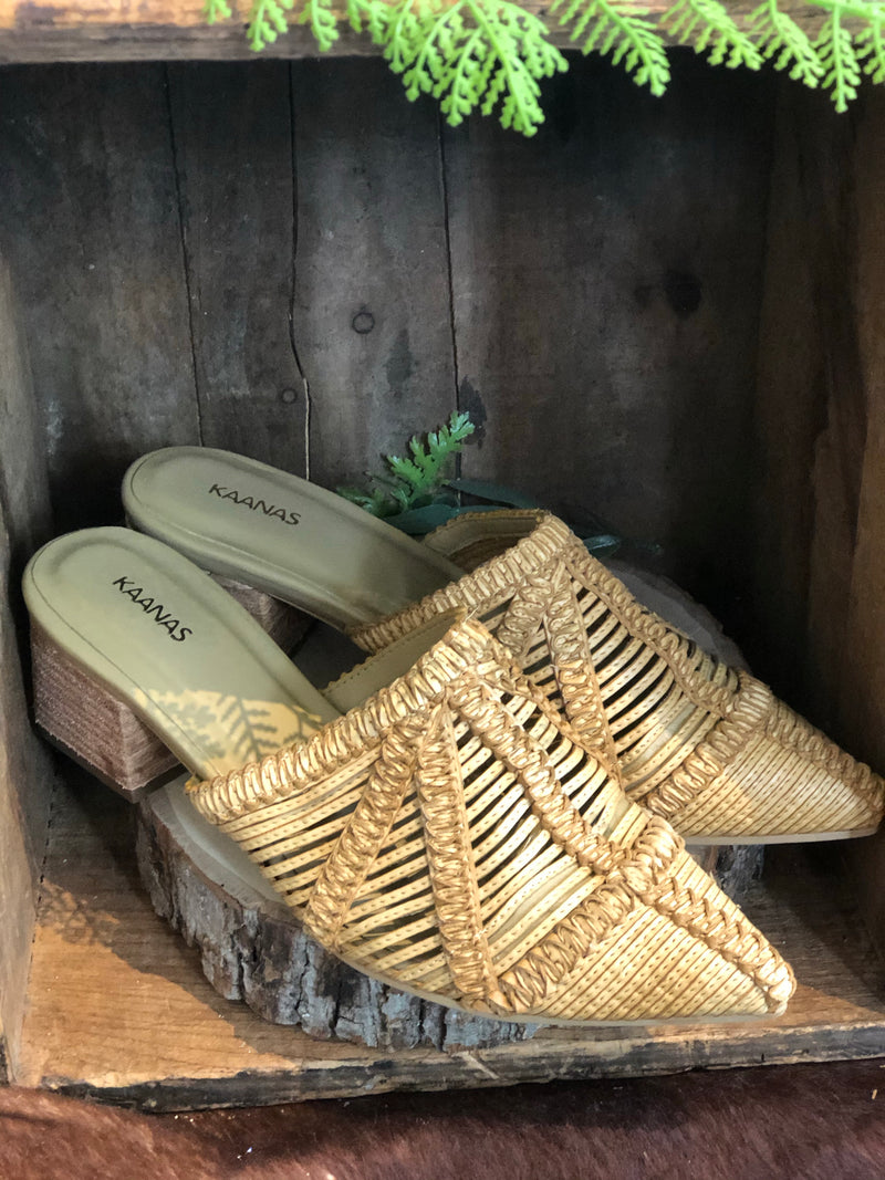 Basketweave Mules by Kaanas