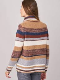 Cashmere Stripe Turtle Neck