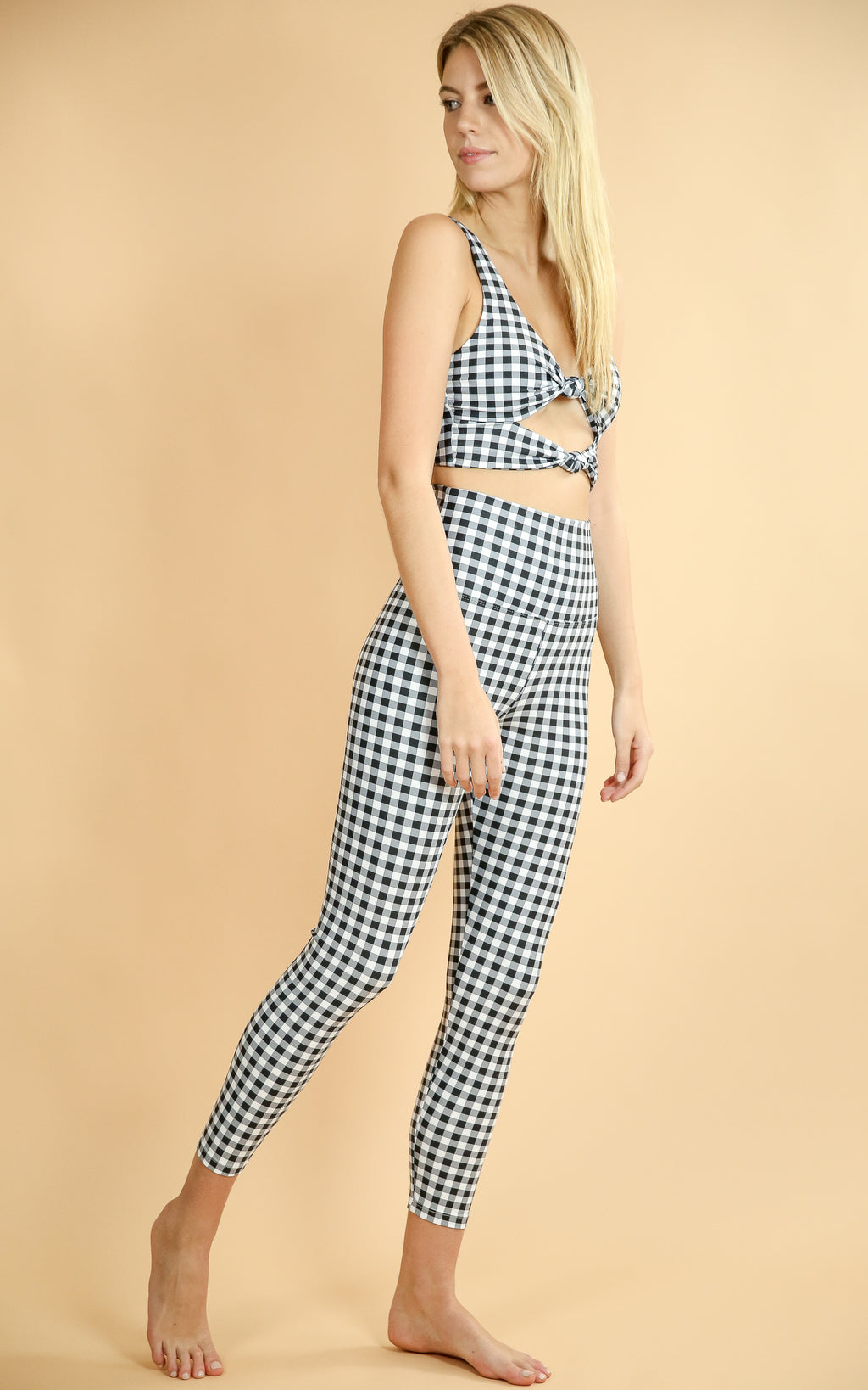 Bowie Top Gingham - Whiskey & Leather