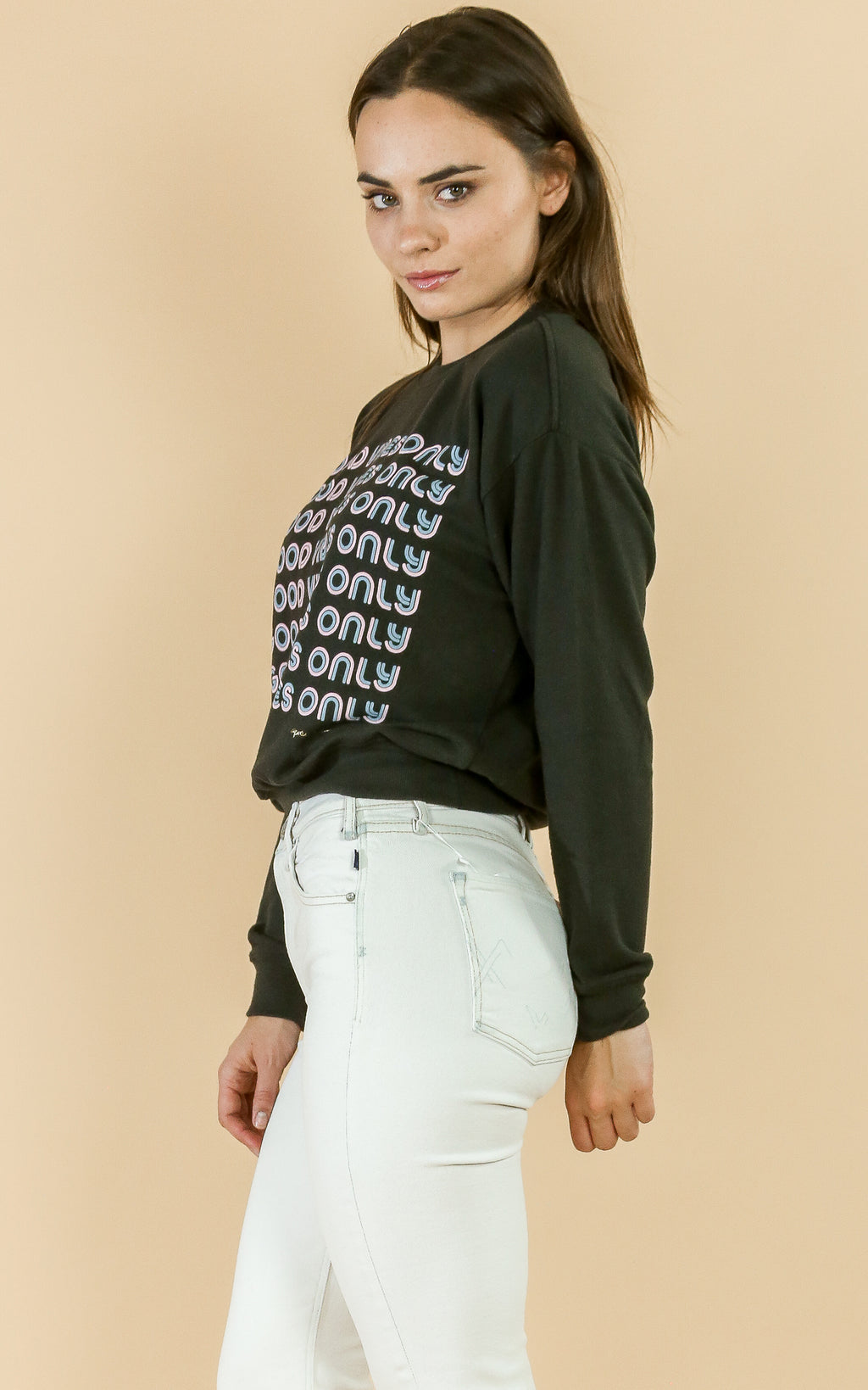 Good Vibes Malibu Crew Neck Blk