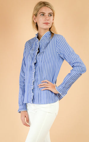 Clean Shirt with Ruffle