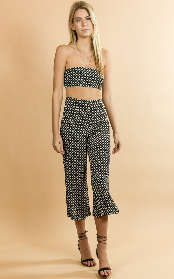 Celine Pant Checkered - Whiskey & Leather
