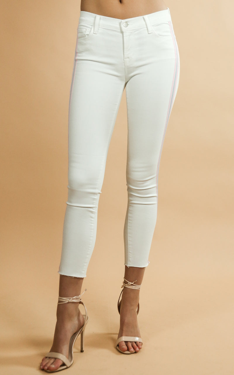 835 Mid Rise Crop Skinny - Whiskey & Leather