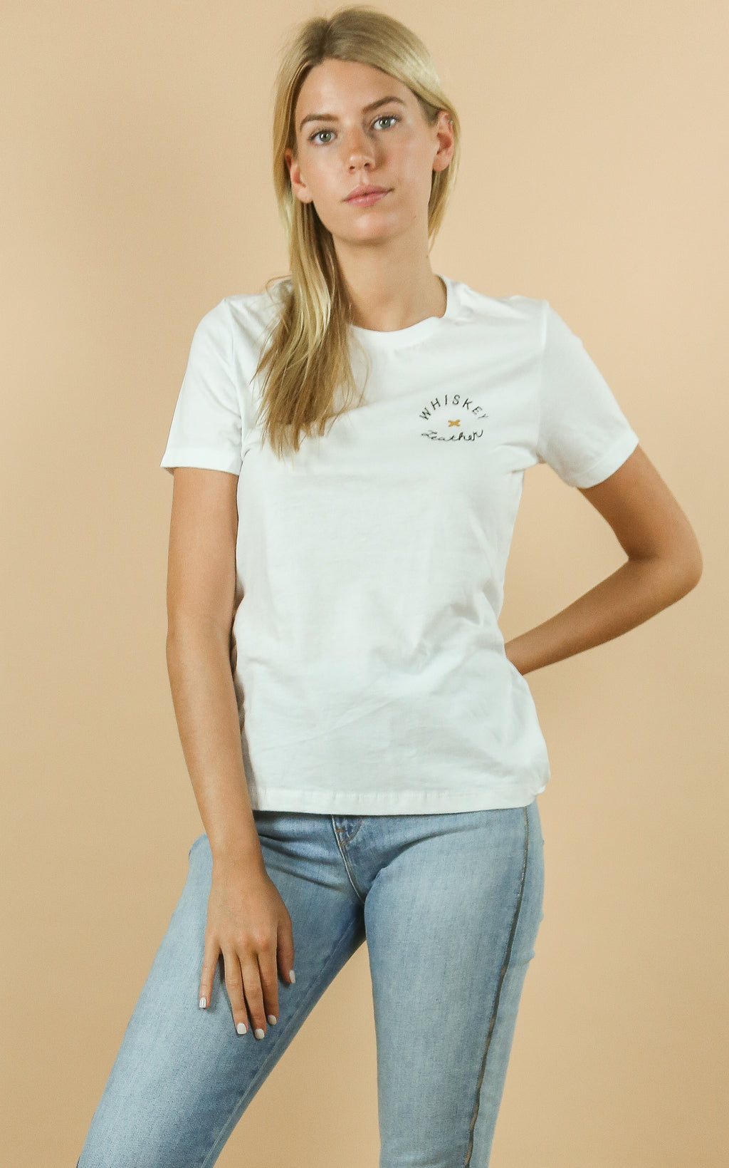 Womens Circle Logo Whiskey Tee