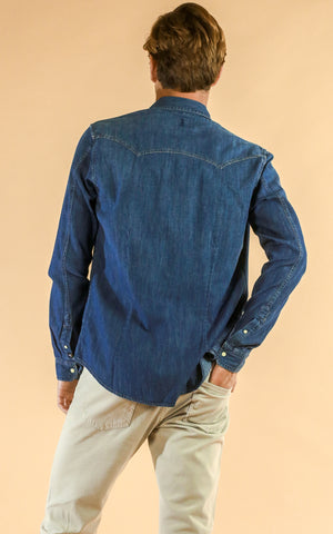 Denim Western Shirt Slim Fit